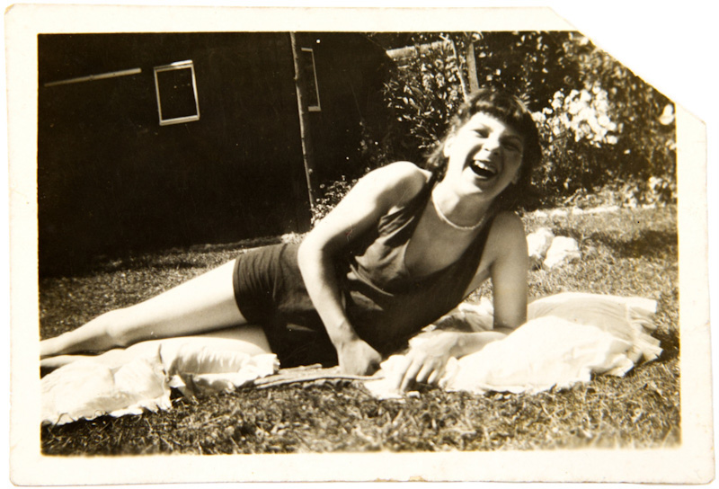 Hutt aged nine enjoying the gardens on the Horsley Towers estate.