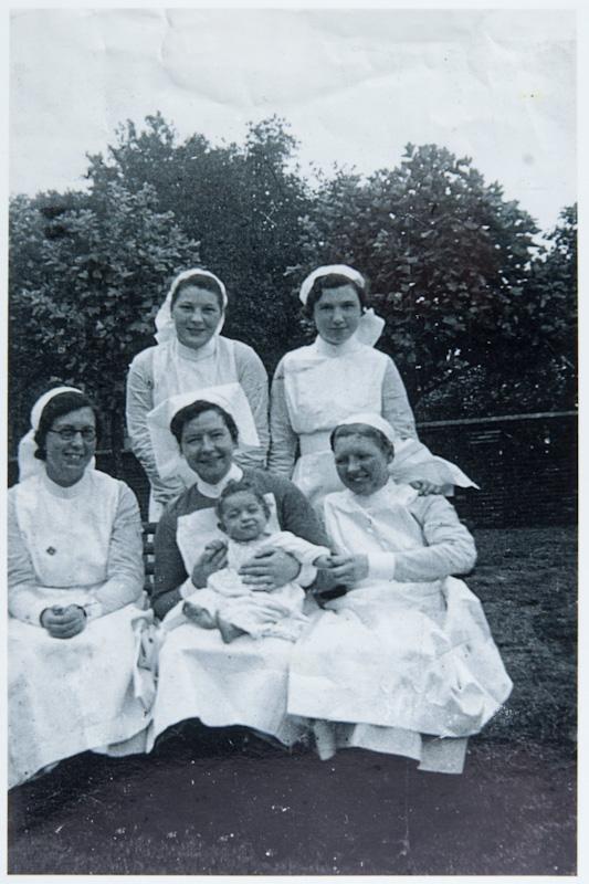 Hutt as a probationer nurse c.1936 at Mile End Hospital
