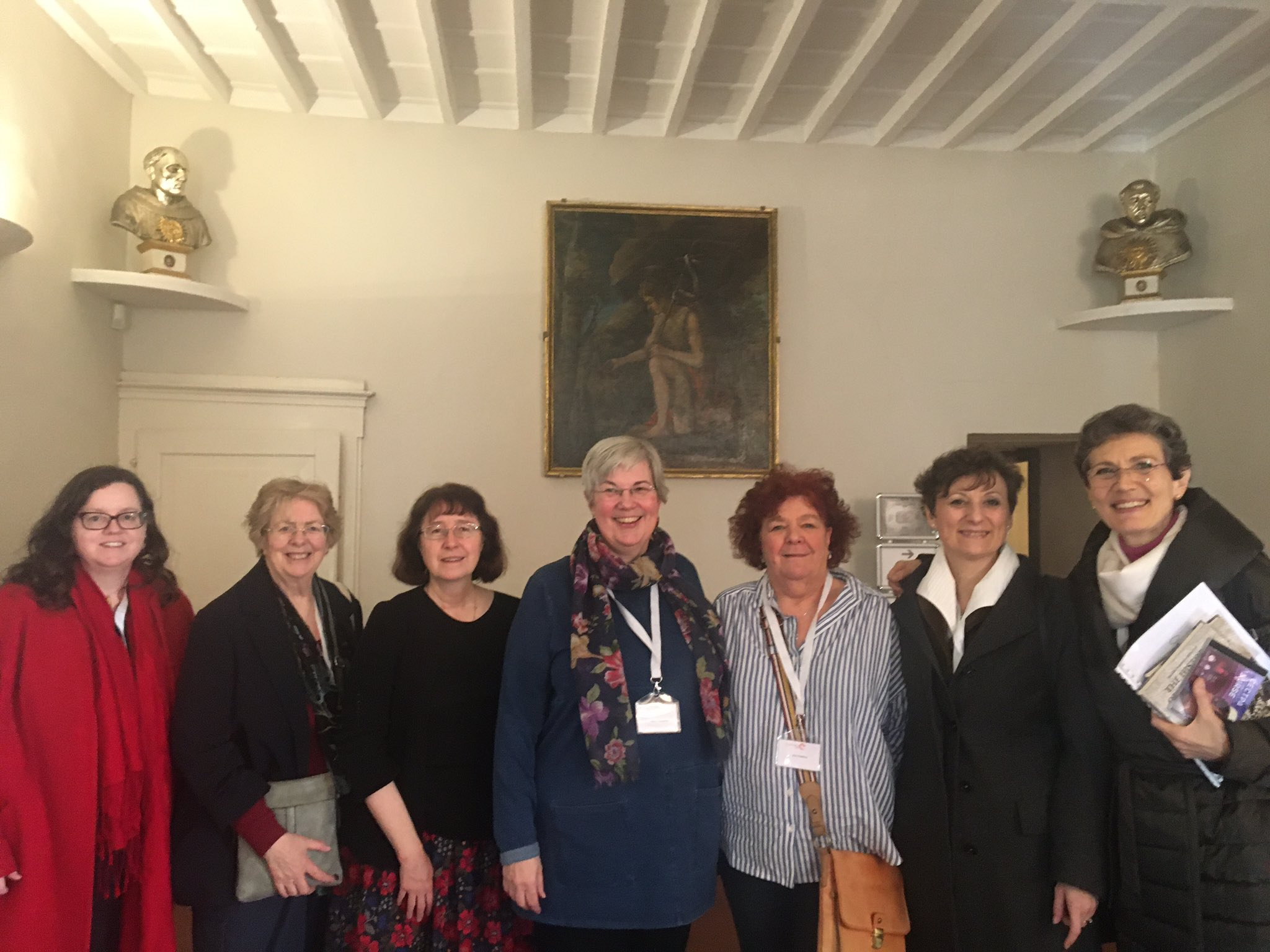 One last picture before we go. From left to right, Teresa Doherty, Helen Sweet, Christine Hallett, Claire Chatterton, Sue Hawkins, Anna La Torre, Cecilia Sironi