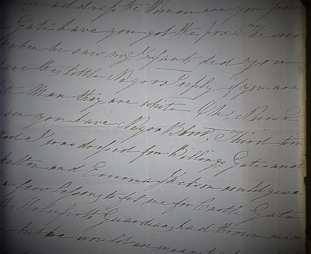 extract from letter